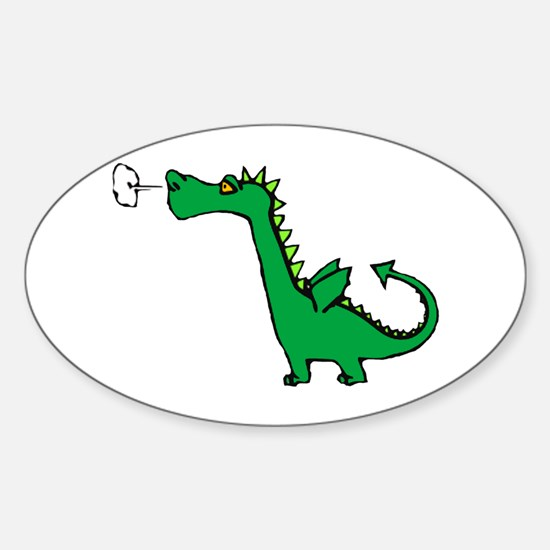 Cartoon Dragon Oval Decal