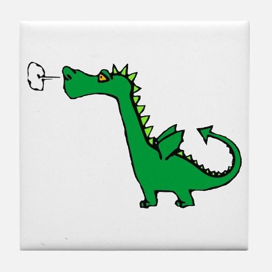 Cartoon Dragon Tile Coaster