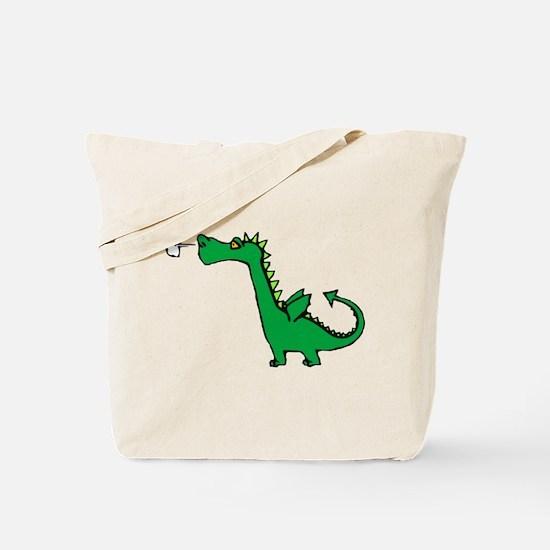 Cartoon Dragon Tote Bag