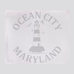 Summer ocean city- maryland Throw Blanket