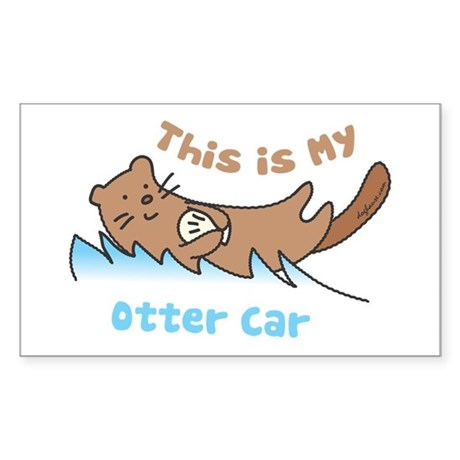 This Is My Otter Rectangle Sticker