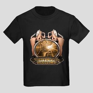 hunt naked Deer hunter gift t Kids Dark T-Shirt