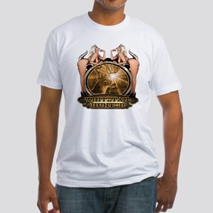 hunt naked Deer hunter gift t Fitted T-Shirt
