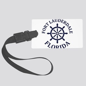 Summer fort lauderdale- florida Large Luggage Tag