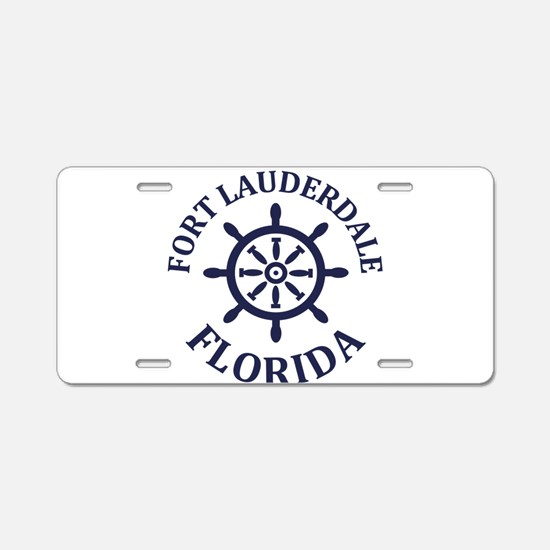 Summer fort lauderdale- flo Aluminum License Plate
