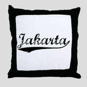 Jakarta custom pillows cafepress vintage jakarta black throw pillow negle Image collections