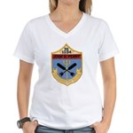 USS JOHN R. PERRY Women's V-Neck T-Shirt