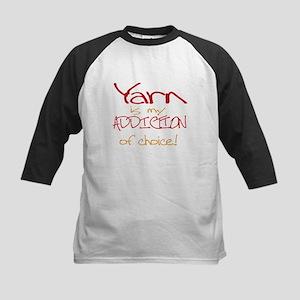 Yarn is my addiction of choic Kids Baseball Jersey