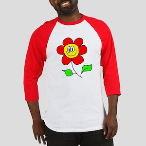 Smiling Flower Baseball Jersey