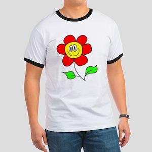 Smiling Flower Ringer T