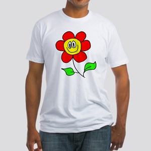 Smiling Flower Fitted T-Shirt