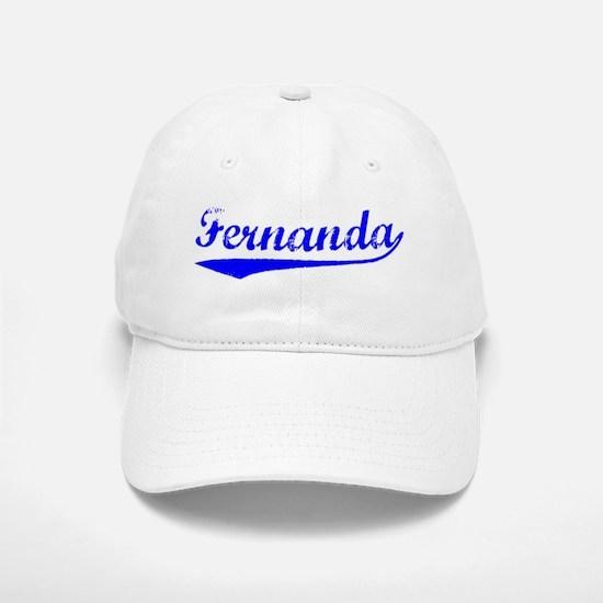 Vintage Fernanda (Blue) Baseball Baseball Cap