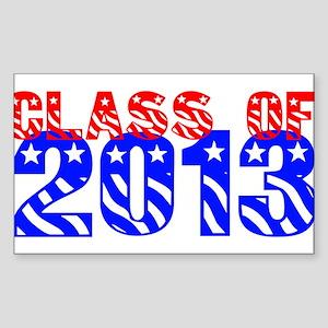 Class of 2013 USA Rectangle Sticker