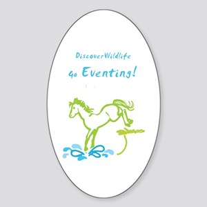 Eventing Horse Oval Sticker