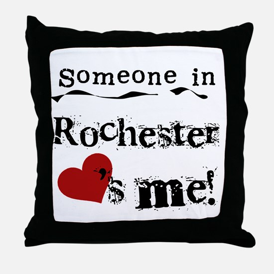Rochester Loves Me Throw Pillow