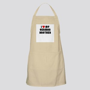 I Lover my German Brother BBQ Apron