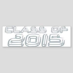 Class of 2015 Chrome Bumper Sticker