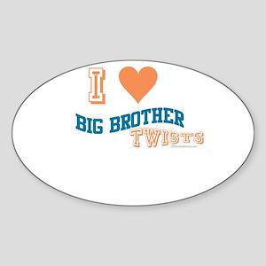 BIG BROTHER TWISTS Oval Sticker