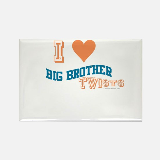 BIG BROTHER TWISTS Rectangle Magnet