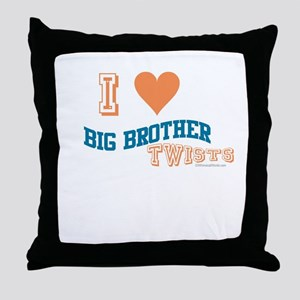 BIG BROTHER TWISTS Throw Pillow