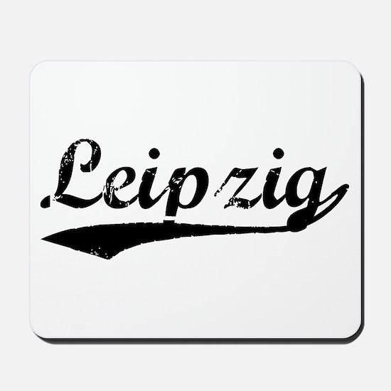 Vintage Leipzig (Black) Mousepad