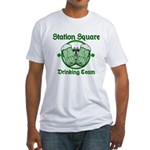 Station Square Drinking Team Fitted T-Shirt