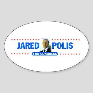Jared Polis Photo Oval Sticker