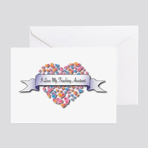 Love My Teaching Assistant Greeting Cards (Pk of 1