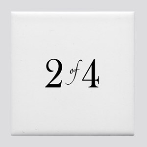 2 of 4 (2nd Child) Tile Coaster