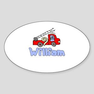 William Oval Sticker