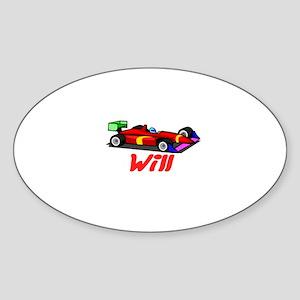 Will Oval Sticker