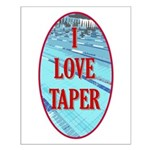 I Love Taper Small Poster
