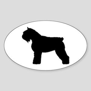 Bouvier des Flandres Dog Oval Sticker