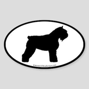Bouvier Oval Oval Sticker