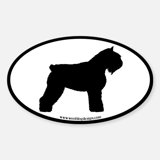 Bouvier Oval Oval Decal