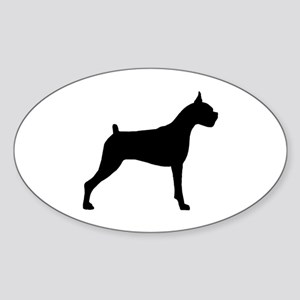 Boxer Dog Oval Sticker
