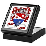 Jager Family Crest Keepsake Box