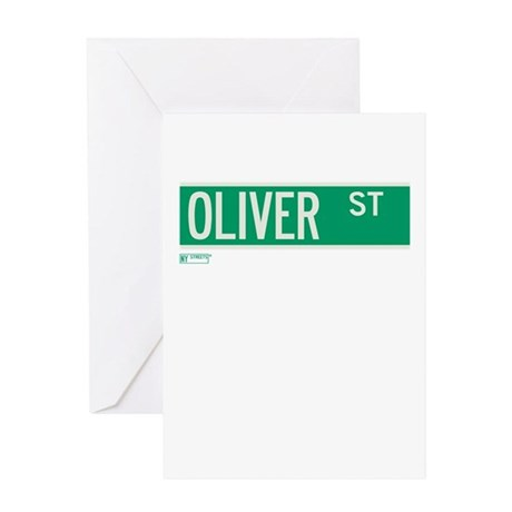 Oliver Street in NY Greeting Card