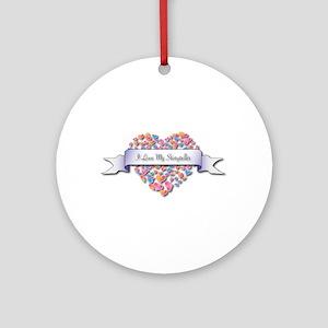 Love My Storyteller Ornament (Round)