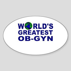 World's Greatest OB-GYN Oval Sticker