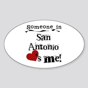 San Antonio Loves Me Oval Sticker