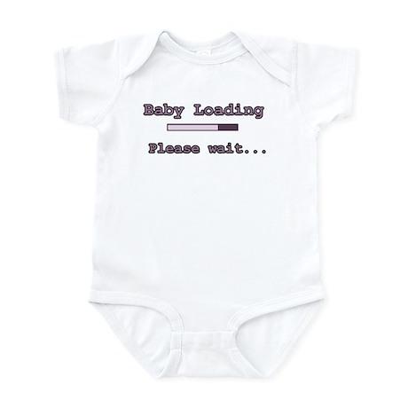 Purple Baby Loading Infant Bodysuit