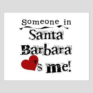 Santa Barbara Loves Me Small Poster