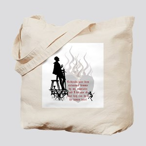 Redhead Demon Quote Tote Bag
