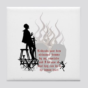 Redhead Demon Quote Tile Coaster