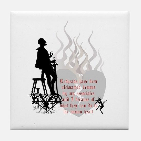 Redhead Demon Quote Tile Coaster