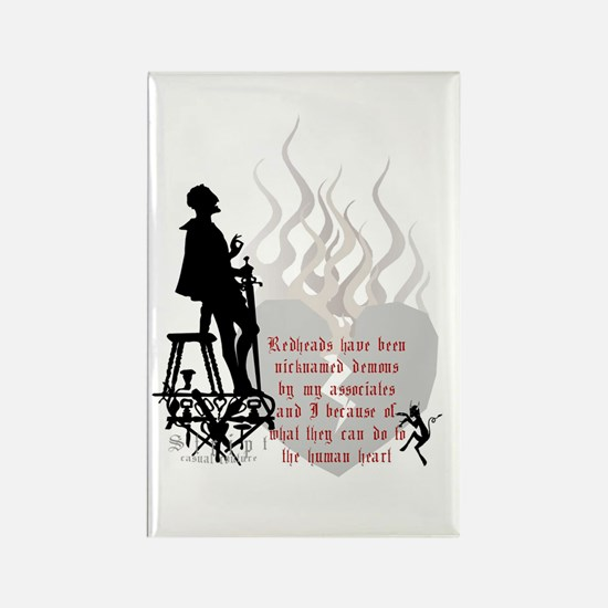 Redhead Demon Quote Rectangle Magnet