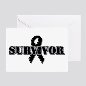 Black Ribbon Survivor Greeting Card
