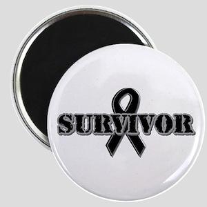 Black Ribbon Survivor Magnet