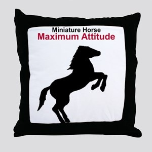 Miniature Horse Maximum Attitude Throw Pillow